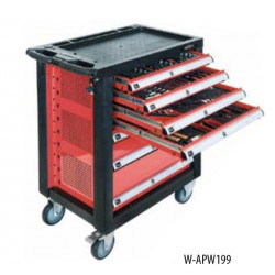 WORKSHOP TROLLEY WITH 217 TOOLS