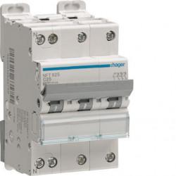 Disjoncteur 3P+N 6-10kA courbe D - 32A 3 modules
